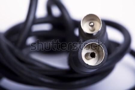 кабеля используемый черный мелкий пластиковых современных Сток-фото © eldadcarin