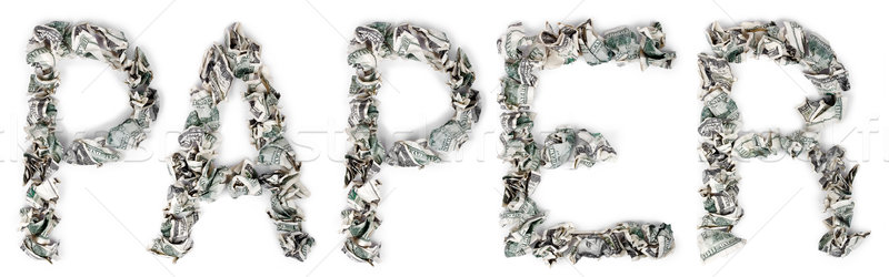 Paper - Crimped 100$ Bills Stock photo © eldadcarin