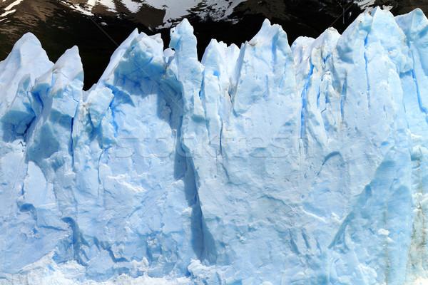 Gletsjer klif natuur berg rock Stockfoto © eldadcarin