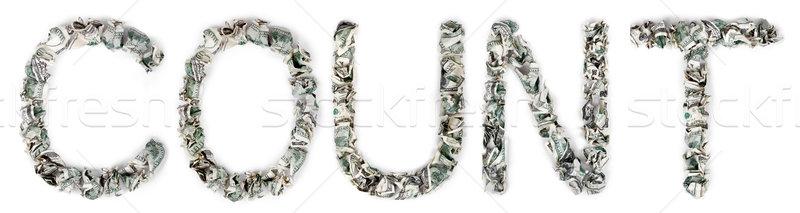 Count - Crimped 100$ Bills Stock photo © eldadcarin