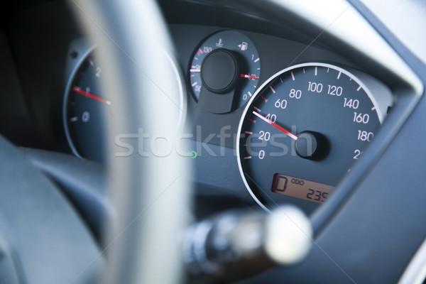 Sebességhatár autó műszerfal 40 sebesség sekély Stock fotó © eldadcarin