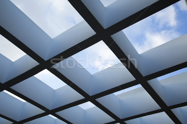 Pergola & Cloudy Sky Stock photo © eldadcarin