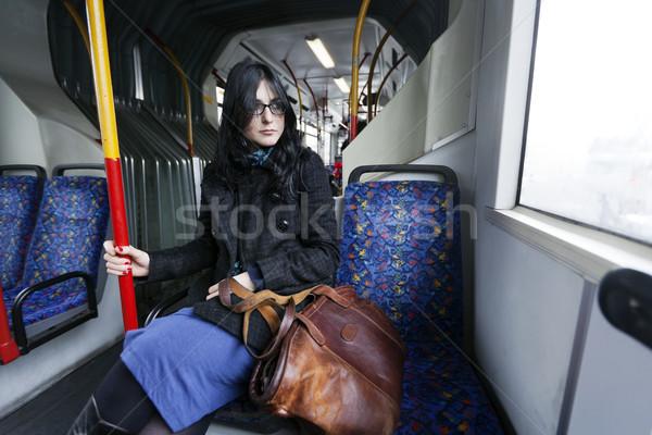 Bus Woman Stock photo © eldadcarin