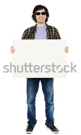 カジュアル 30歳代 男 サングラス にログイン ストックフォト © eldadcarin