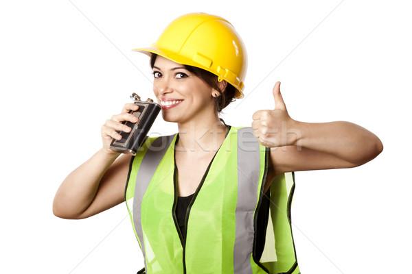 Alkol güvenlik kadın kafkas Stok fotoğraf © eldadcarin