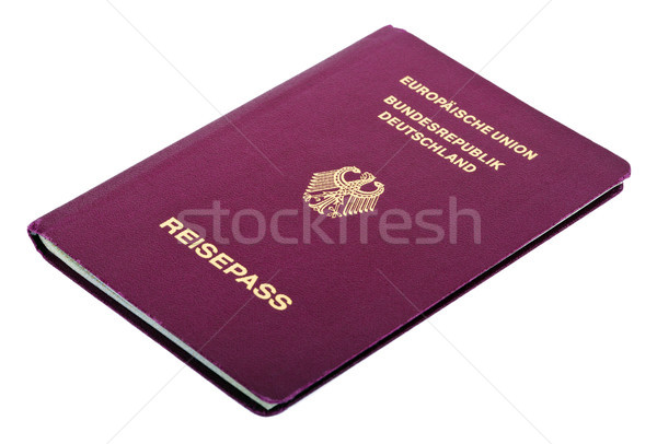 изолированный паспорта белый бумаги орел печать Сток-фото © eldadcarin