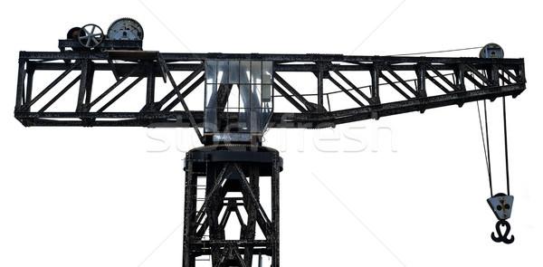 Isolated Vintage Harbour Crane Stock photo © eldadcarin