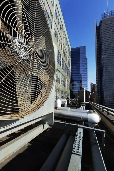 Urban HVAC Air Contidioner Outdoor Unit Manhattan New-York Stock photo © eldadcarin