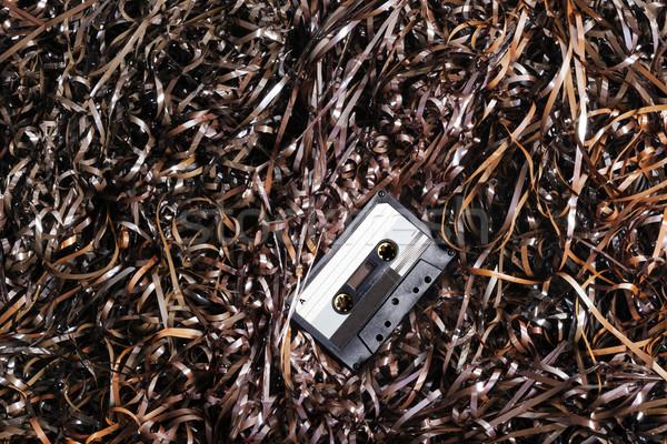 Ses kaset manyetik bant siyah plastik Stok fotoğraf © eldadcarin