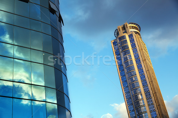 Skyscraper & Part of Office Building Stock photo © eldadcarin