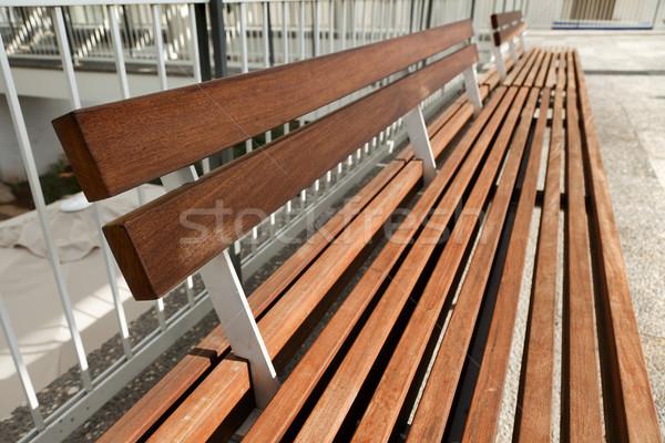 Decorative Diminishing Bench Stock photo © eldadcarin
