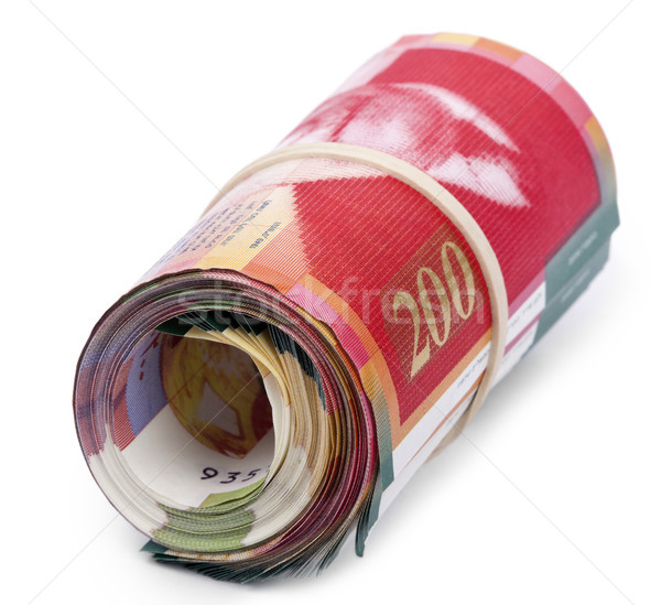 Roll of 200 Israeli New Shekels Bills Stock photo © eldadcarin