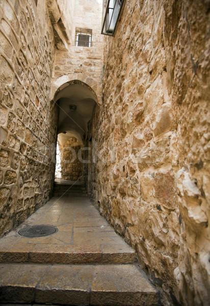Eski Kudüs geçit çeyrek şehir İsrail Stok fotoğraf © eldadcarin