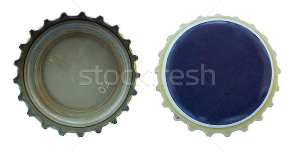 Odizolowany niebieski żółty metal dwa kolorowy Zdjęcia stock © eldadcarin