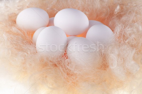 white eggs in the soft, gentle light on a lining Stock photo © Elegies