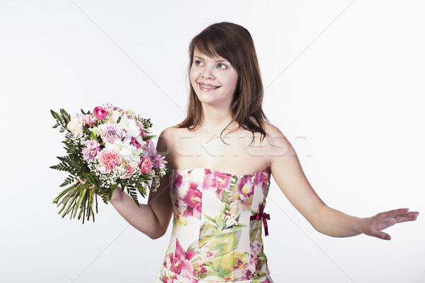 Bouquet sorridere diverso fiori Foto d'archivio © Elegies