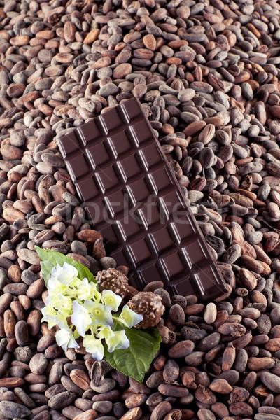 Stockfoto: Pure · chocola · bloem · voedsel · chocolade · achtergrond