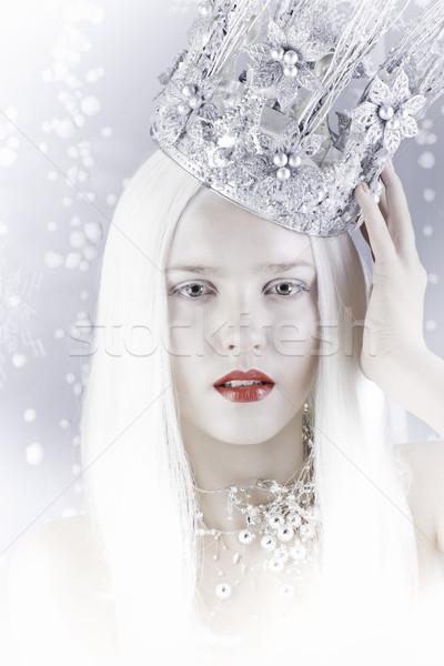 Neve regina argento corona teen Foto d'archivio © Elegies