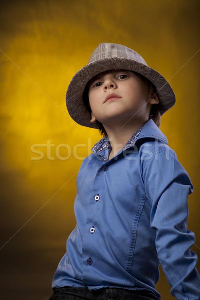 Küçük erkek şapka sarı renk Stok fotoğraf © Elegies