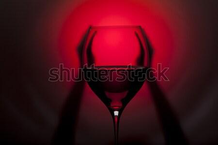 Cam şarap kırmızı siyah Stok fotoğraf © Elegies