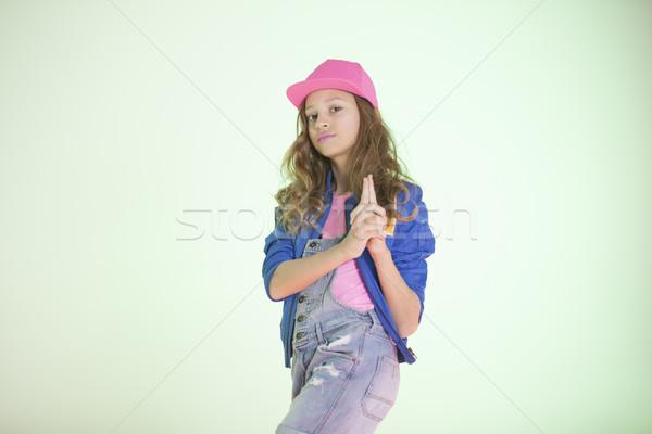 Pop kız stil kafkas moda renk Stok fotoğraf © Elegies