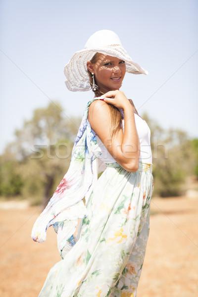 Bella estate giorno teen persona Foto d'archivio © Elegies