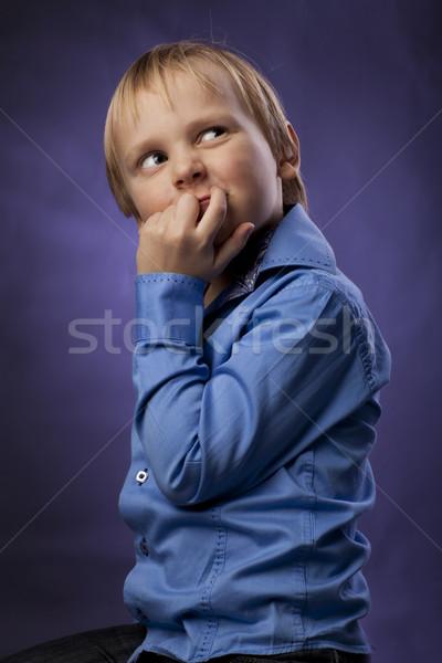 Kafkas küçük erkek pozitif mavi Stok fotoğraf © Elegies