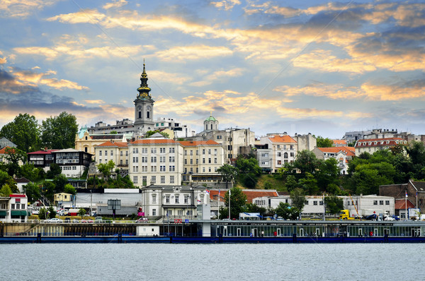 Belgrade cityscape on Danube Stock photo © elenaphoto