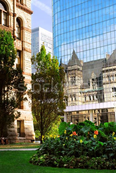 Toronto tükröződés öreg város előcsarnok épület Stock fotó © elenaphoto