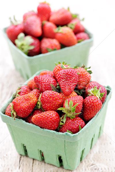 Eprek kettő friss organikus piros egészség Stock fotó © elenaphoto