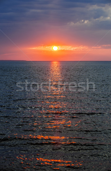 Sunset over Atlantic ocean Stock photo © elenaphoto