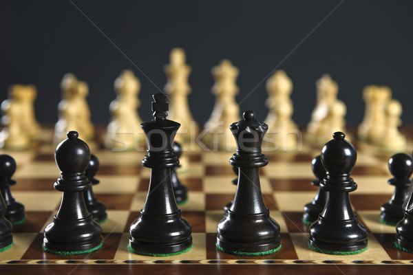 Chess pieces on board Stock photo © elenaphoto