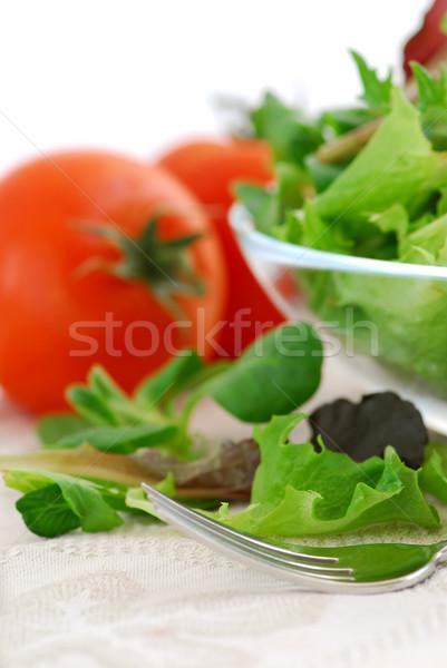 Photo stock: Bébé · tomates · fraîches · salade
