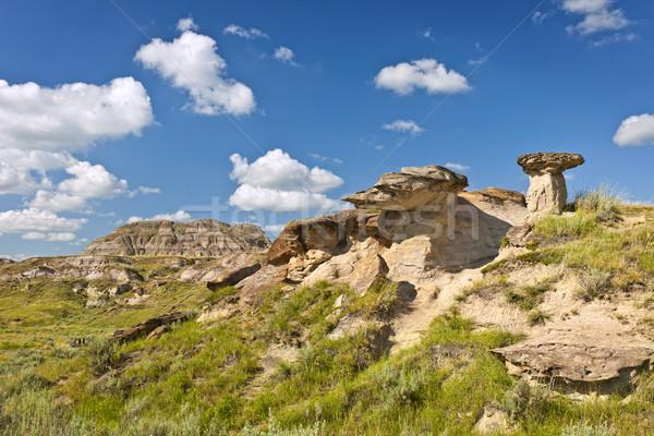 Badlands in Alberta, Canada Stock photo © elenaphoto