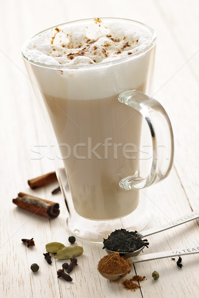 Chai Latte drink Stock photo © elenaphoto