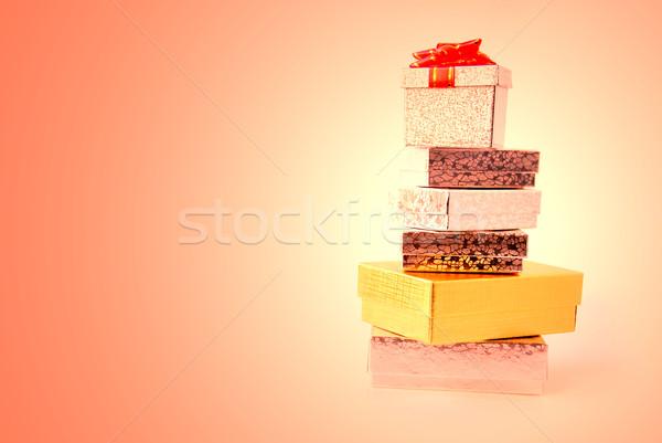 Hediye kutuları renkli doğum günü arka plan alışveriş Stok fotoğraf © elenaphoto