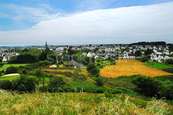 Town of Carnac in Brittany Stock photo © elenaphoto