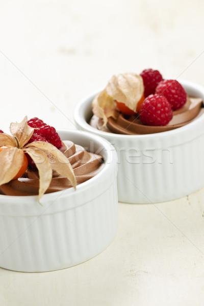 Chocolate mousse dessert Stock photo © elenaphoto