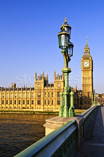 Photo stock: Palais · westminster · pont · maisons · parlement · Big · Ben