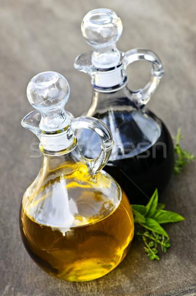 Сток-фото: нефть · уксус · бальзамического · уксуса · стекла · бутылок · продовольствие