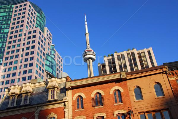 старые новых Торонто небе синий зданий Сток-фото © elenaphoto
