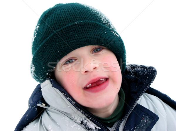 отсутствующий зубов снега улице Сток-фото © elenaphoto