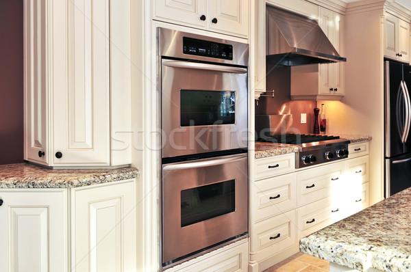 Stockfoto: Keuken · interieur · interieur · moderne · luxe · keuken · roestvrij · staal