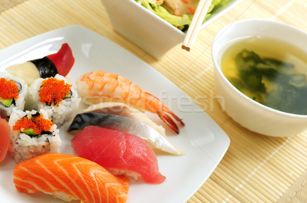 Sushi lunch Stock photo © elenaphoto