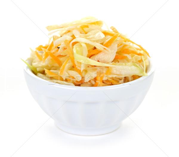 чаши капустный салат капуста изолированный белый продовольствие Сток-фото © elenaphoto