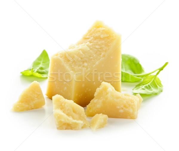 パルメザンチーズ ピース クローズアップ 白 食品 背景 ストックフォト © elenaphoto