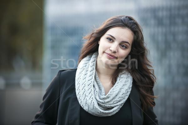 молодые брюнетка женщину откровенный портрет Сток-фото © elenaphoto