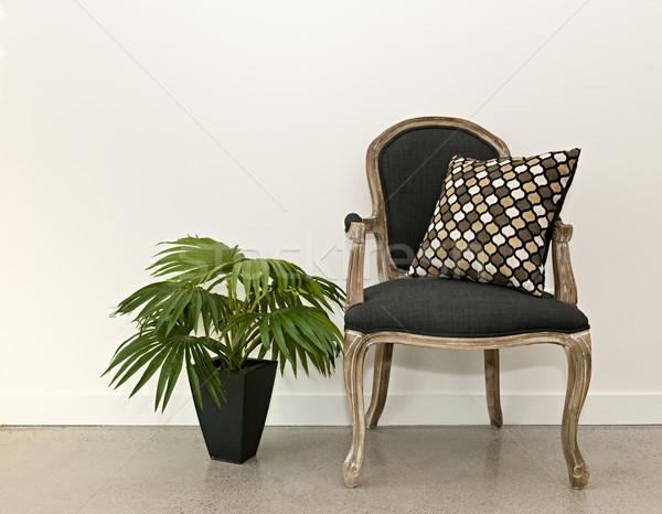 Сток-фото: антикварная · кресло · завода · стены · мебель · белый
