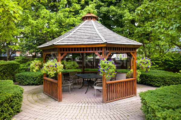 Gazebo in garden Stock photo © elenaphoto