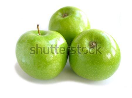 Green apple white Stock photo © elenaphoto